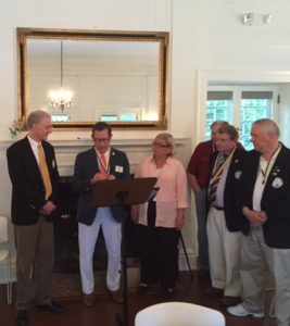 Passing of the Gavel included recognition of Paul Harris Fellows.