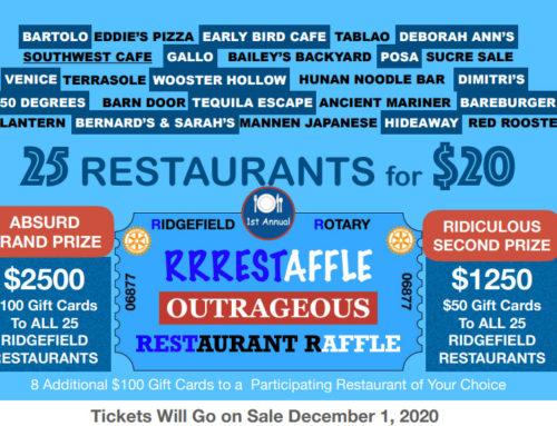 RRRESTAFFLE Ridgefield Rotary Restaurant Raffle Starting 12/1/2020